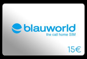blauworld 15 euro aufladen online