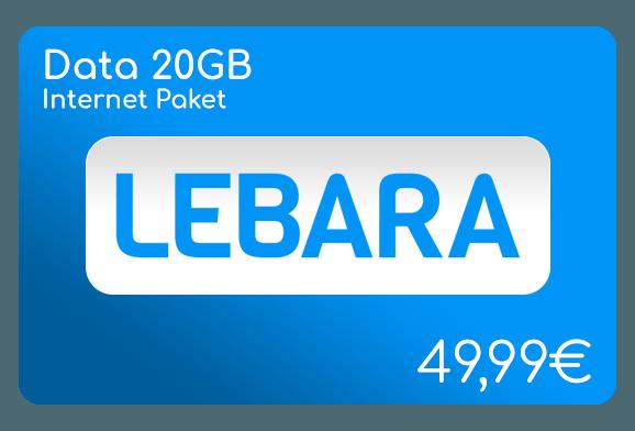 lebara data 20 gb internet aufladen online